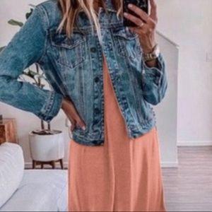 Large Blush Pink Rayon Fall Dress - NWT